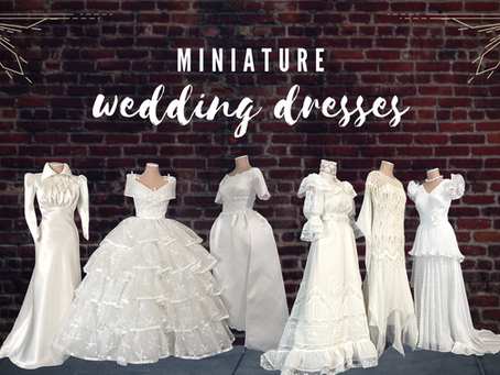 On Display: Miniature Wedding Dresses Through The Decades