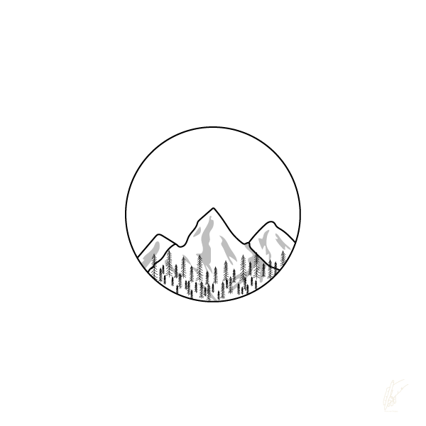 olive rose designs, graphic design, mountains