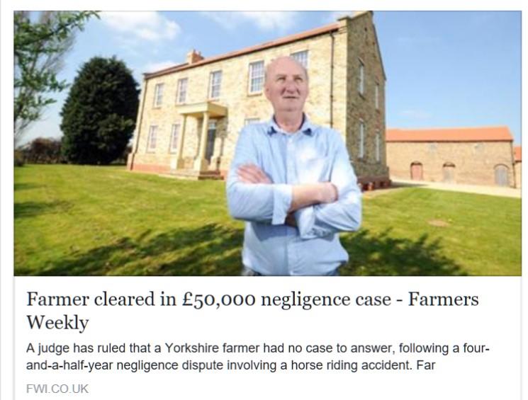 Farmer cleared....