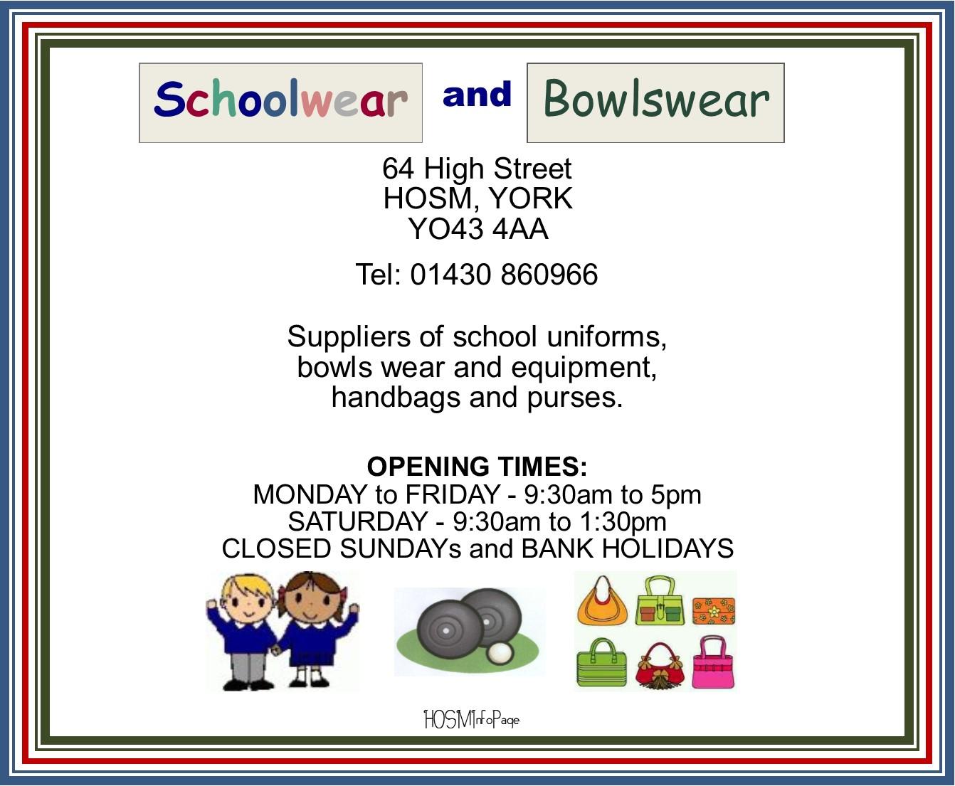 Schoolwear & Bowlswear