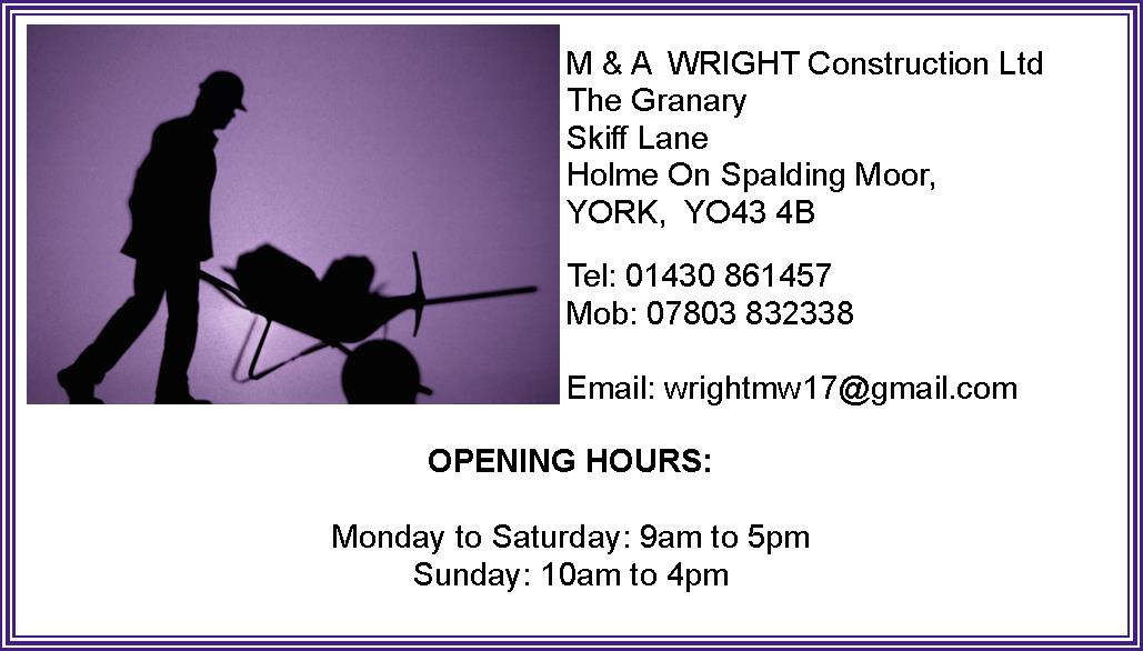 M and A Wright Constrution Ltd