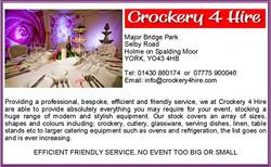 Crockery 4 Hire