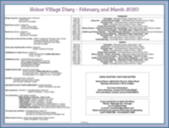 Holme Village Diary - Feb and Mar 2020.j