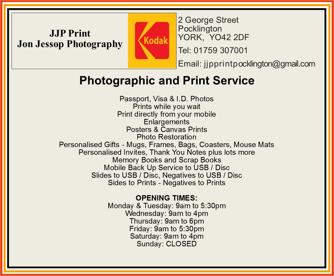 Jon Jessop Print&Photography