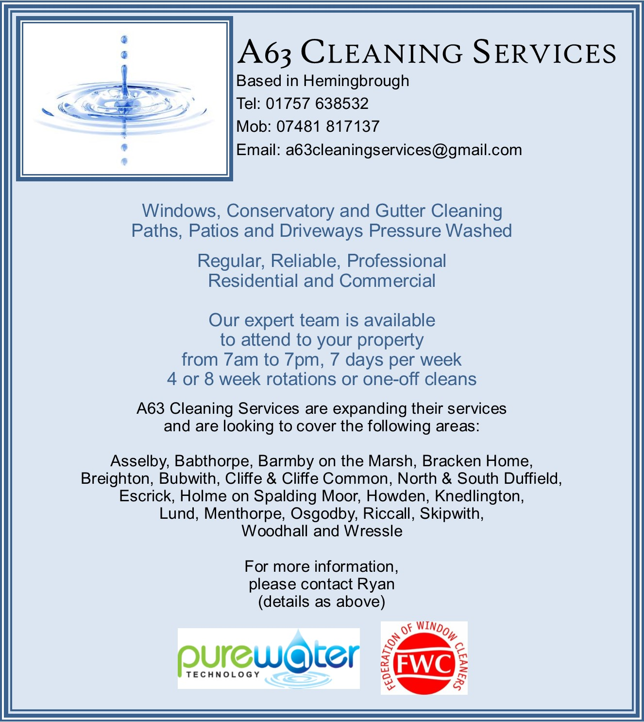 A63 Cleaning Services