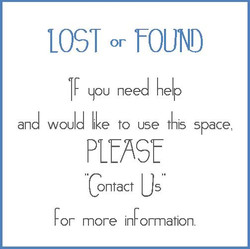 LOST or FOUND