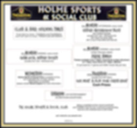 Holme Sports and Social Club from Jan 20