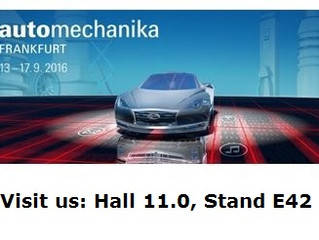 Presenti all' automechanika di Frankfurt 2016