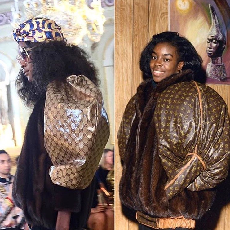 Gucci Cruise 2018 V. Dapper Dan 1980s