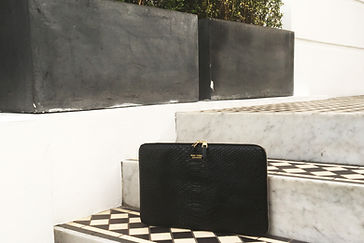 Luxe accessory monarch laptop case in python leather
