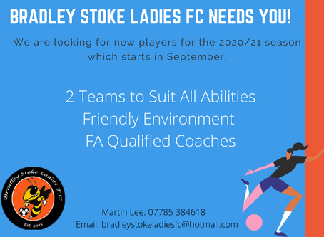 An Update - We Are Recruiting for the 2020/21 Season!
