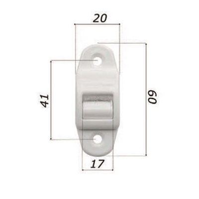 Lintgeleider mini + borstel voor lint 14 mm