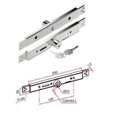Cilinderslot  AE TRADI  staal