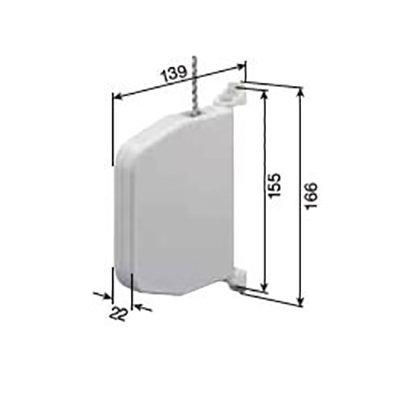 Opwinder openklapbaar, draaibaar 5 m  koord 4,5 mm