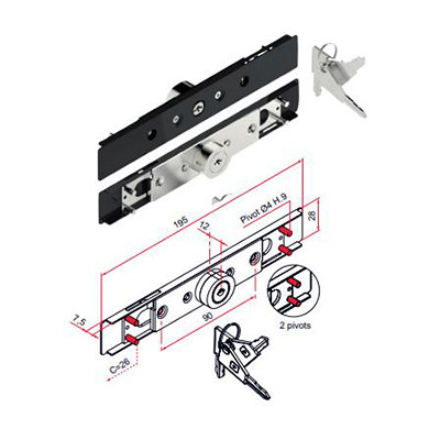 Slot TRADI  13 à 15mm veiligheidscilinder 2 stiften