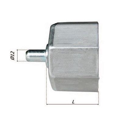 Asprop metaal gegalvaniseerd Ø 60 met pin 12 mm