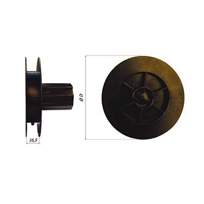Mini lintschijf Ø 115 PVC  8-kant 40 voor kogellager Ø 28