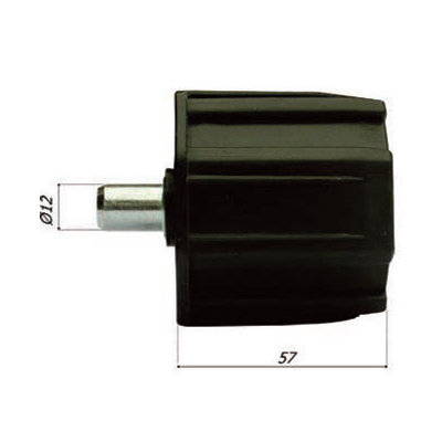 Asprop PVC Ø 60 met pin 12 mm