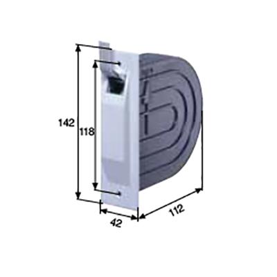 Inbouw mini opwinder lint 14 mm