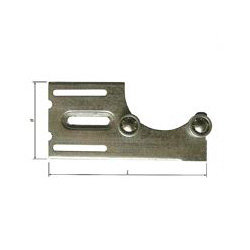 Middensteun met 2 kogellagers (te gebruiken met verdikkingsring + L profiel)
