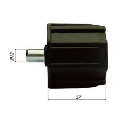 Asprop PVC Ø 70 met pin 12 mm