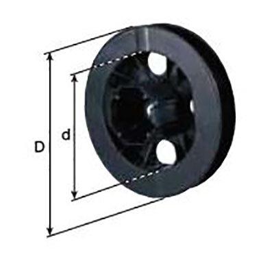 PVC schijf  Export  achtkant 60 Ø  21,5 (te gebruiken met asprop (254000) Ø 70)