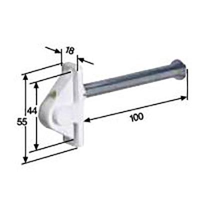Koortgeleider met stalen rol, veer, 50 cm