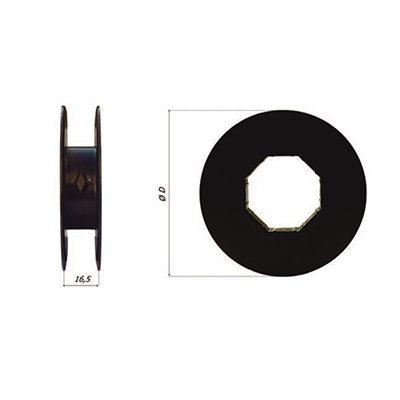 Mini schijf Ø 140 PVC  verstelbaar 8-kant Ø 40