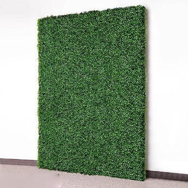 grass hedge backdrop for phoo booth