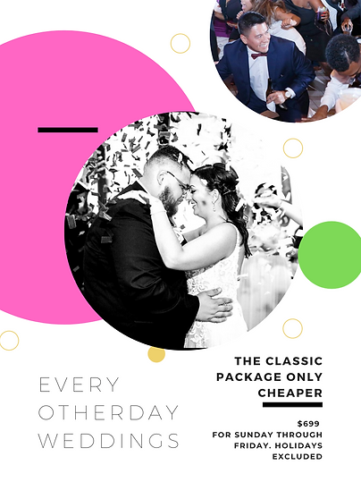 Weekday wedding prices
