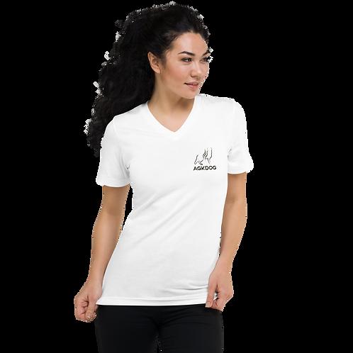 T-shirt Unisexe à Manches Courtes et Col V