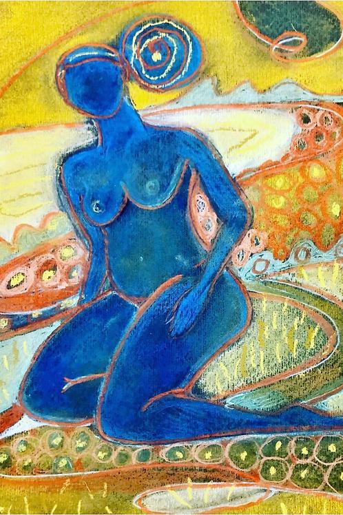 Blue Nude I Erin Bockler