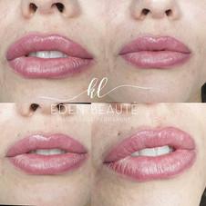 Maquillage permanent Lèvre Voilage . Les