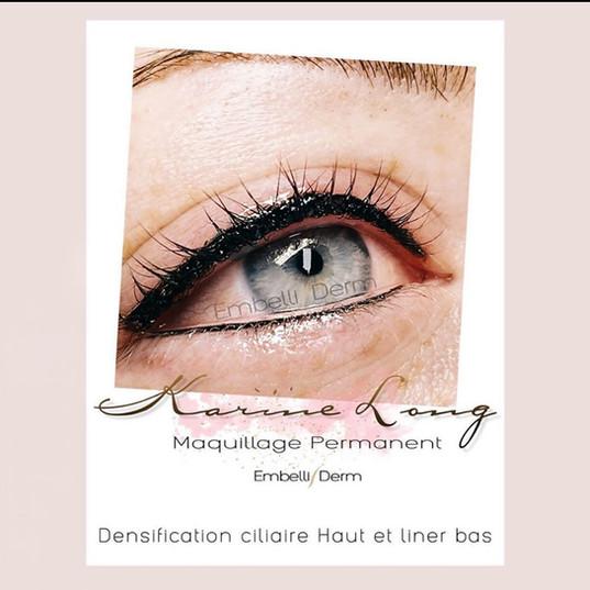 tatouage yeux eye liner embelliderm