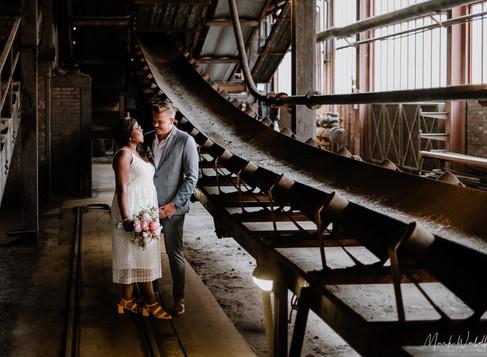 Lydia & Tim: standesamtliche Hochzeit an der Zeche Zollverein, Essen