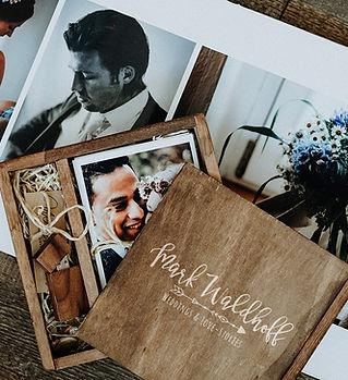 Hochzeitsfotograf Holzbox Fotobuch Waldh