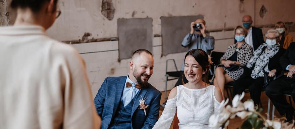 Nina & Galli: standesamtliche Hochzeit im Dampfgebläsehaus (Jahrhunderthalle,Bochum)