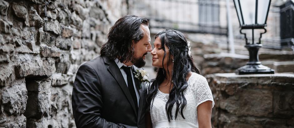 Aisha & Sebastian: Brautpaar-Shooting an der Burg Blankenstein in Hattingen