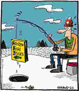 Cold weather fishing comic