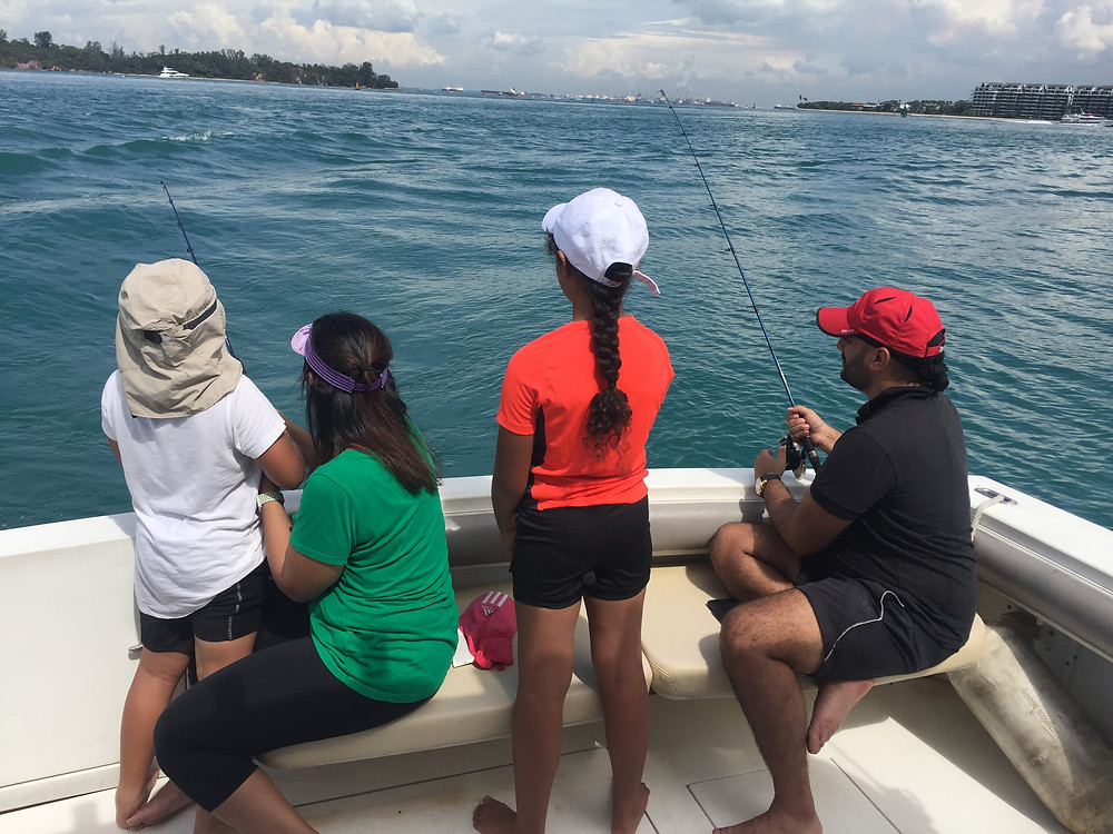 Family outing fishing