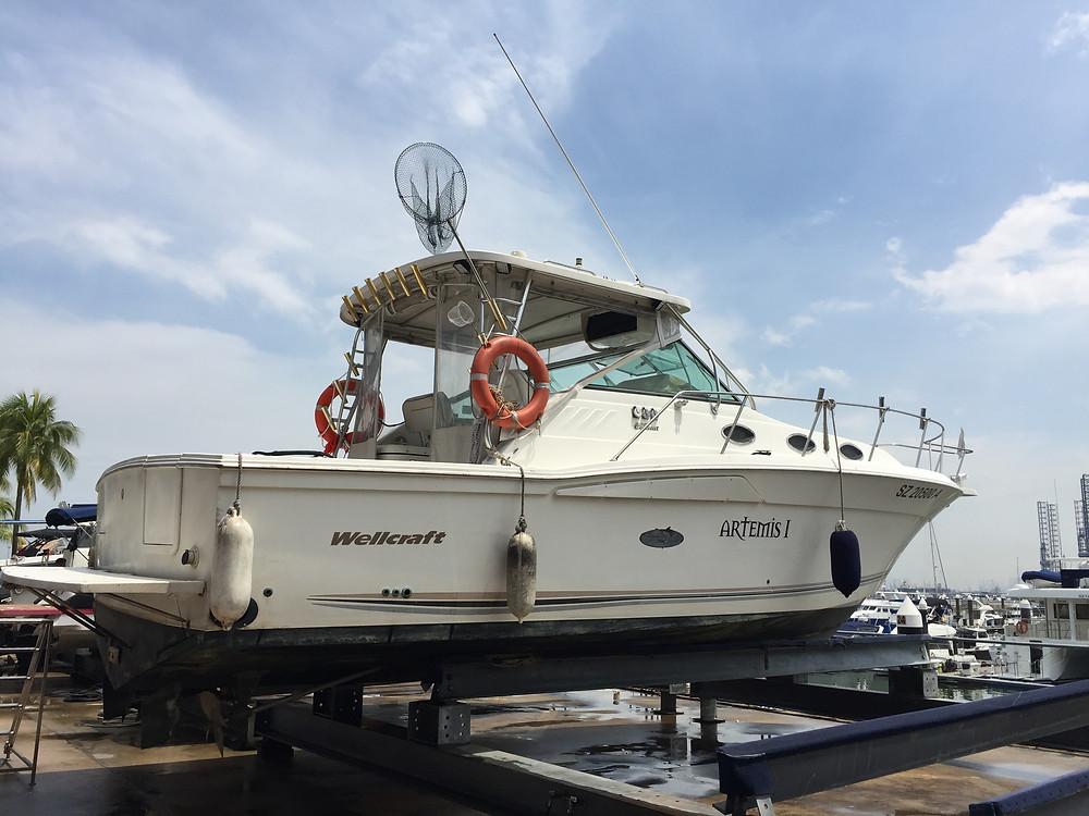 Artemis I fishing yacht Singapore
