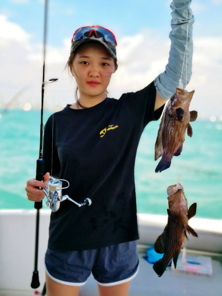 Pair of groupers caught in Singapore