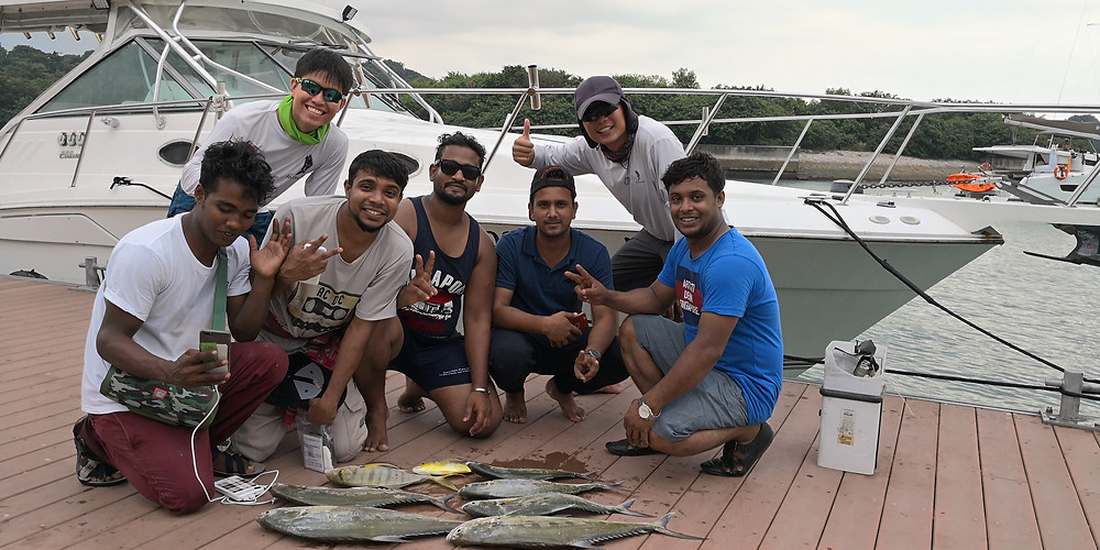 Day's catch of queenfish