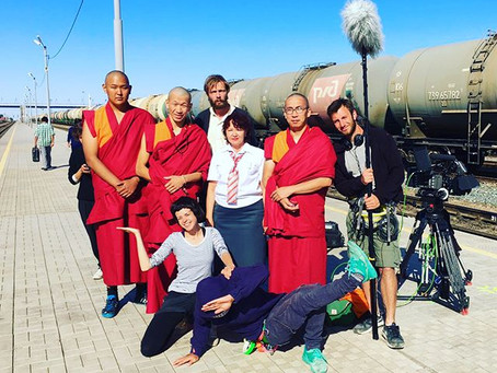 on the set with monks (3)