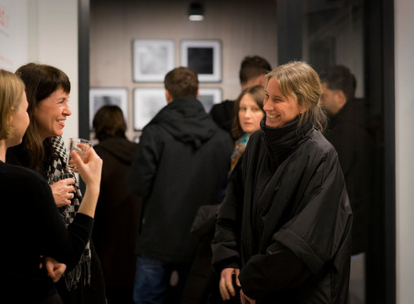 "Opening night. Exhibition ""Laws of Time"" at Feldfünf."