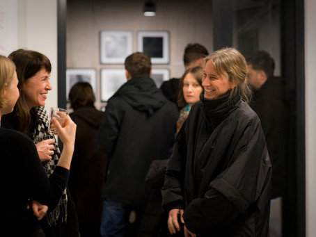 """Opening night. Exhibition """"Laws of Time"""" at Feldfünf."""