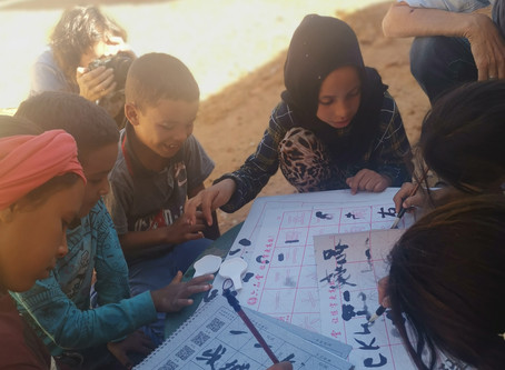 Being part of a workshop in Sahara, Morocco