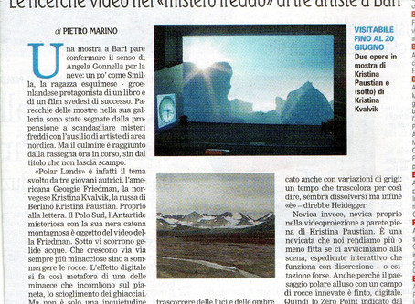 "Review about ""Towards the Zero Point"" at Muratcentoventidue - Galleria, Bari"