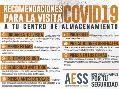 Lee las recomendaciones del COVIT 19 proporcionadas por AESS