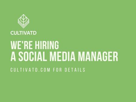 We're Hiring a Social Media & Content Manager